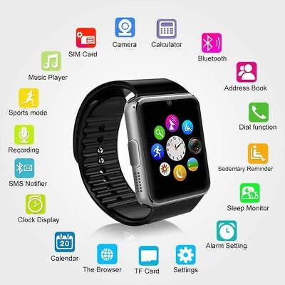 2018 Q18 GT08 Bluetooth Smart Watch For Android iOS iPhone Apple GSM GPRS SIM UK