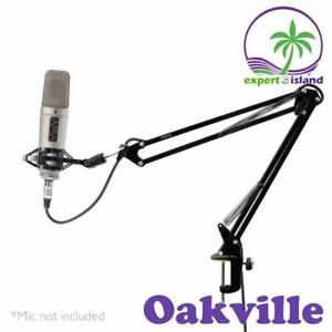 Pyle (PMKSH01) Suspension Boom Scissor Microphone Stand Studio Radio Shock Mount Holder