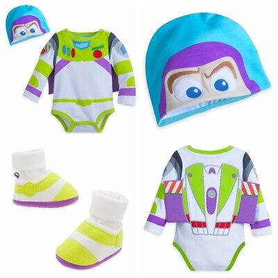 Disney Store Buzz Lightyear Baby Bodysuit Shoes Boy Toy Story Woody Halloween](Buzzlightyear Costume)