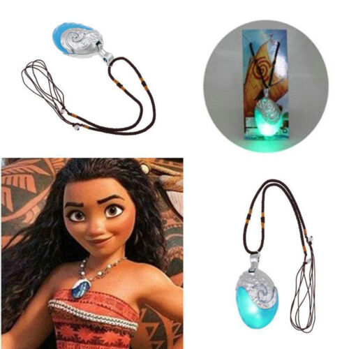 Necklace - Princess Moana Necklace Glowing Music Cosplay Heart of Te Fiti Girl Pendant Gift