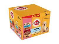 BNIB Pedigree Puppy Wet Dog Food Pouches 48 pk