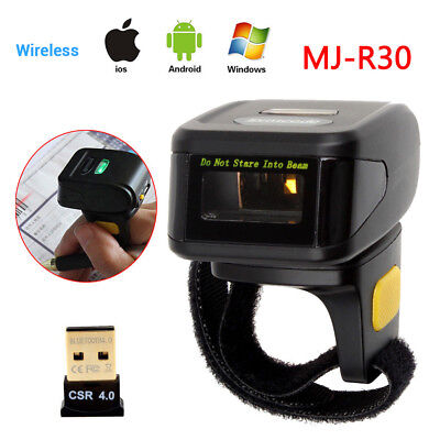 Portable Wearable Ring 1d Wireless Bluetooth Barcode Scanner For Iosandroid