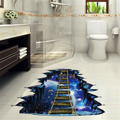 3D Star Series Floor Wall Sticker Removable Mural Vinyl Room Home Decoration