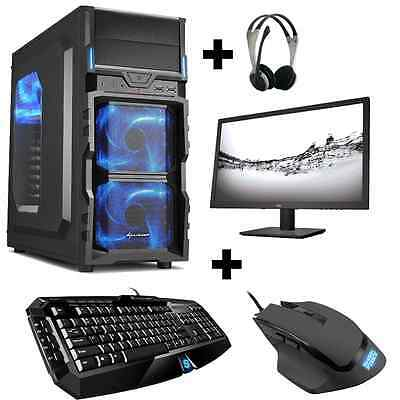 Gamer PC Komplett-Set AMD 7850K 4x 4,0 Ghz Radeon R7 8GB 1TB Gaming Win10