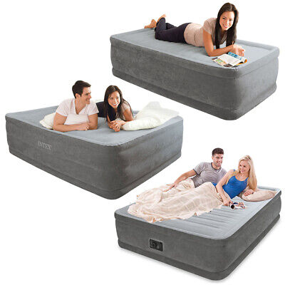 Intex Luftbett Comfort Gästebett Bett selbstaufblasend mit Pumpe Reisebett