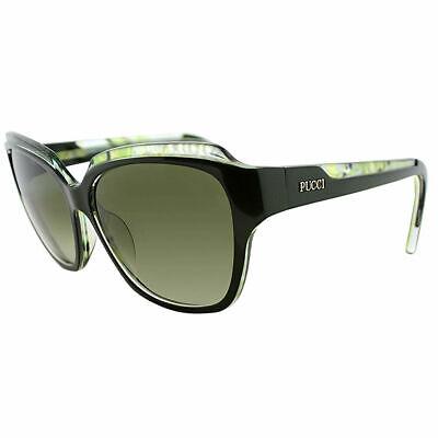 Green Plastic Sunglasses (Emilio Pucci EP 686S 303 Dark Green Plastic Sunglasses Green Gradient)