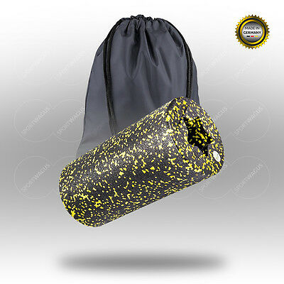 BALANCE ROLL Standard (mittel*) Massagerolle 31x15cm black Roll yellow Reha Set