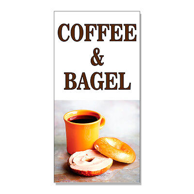 Coffee And Bagel Food Fair Restaurant Cafe Market  Decal Sticker Store Sign