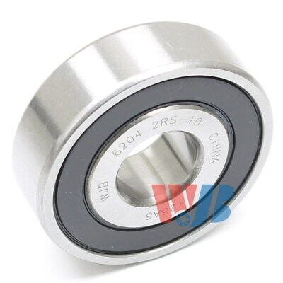 Ball Bearing Wjb 6204-2rs-10 With 2 Rubber Seals 58 Bore 15.875x47x14mm