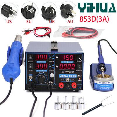 Yihua 853d 3a Usb Rework Soldering Station Whot Air Gun Electronic Desoldering