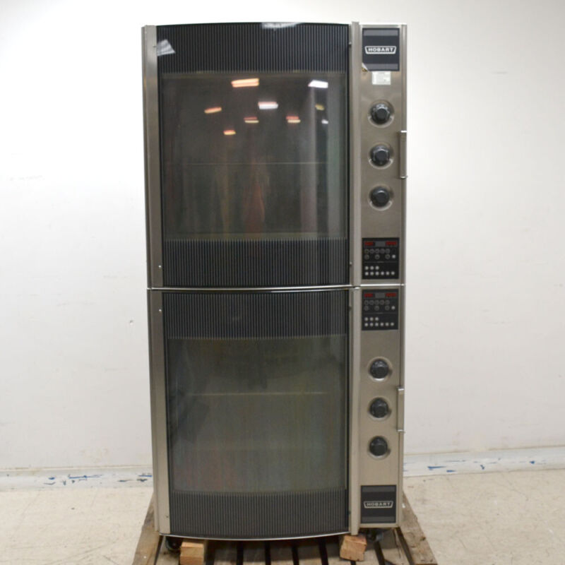 Hobart HR7 Commercial Electric Double Stack Chicken Rotisserie Oven 3PH 208V