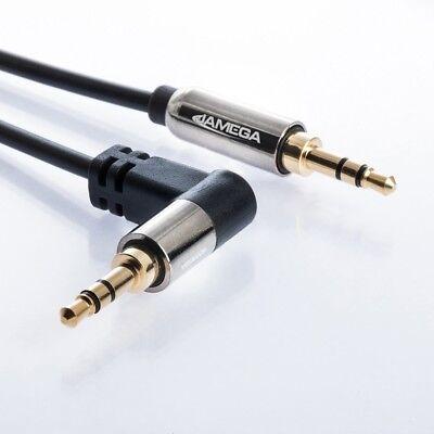 0,5m AUX Kabel 3,5mm Klinke-Stecker Winkel Stereo | für Handy MP3 iPhone TV 50cm