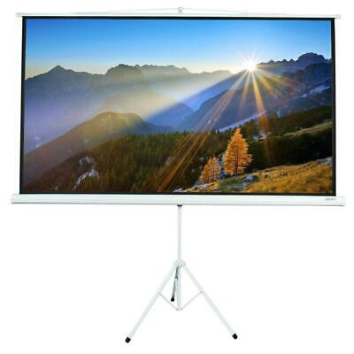 """Adjustable 84"""" 16:9 HD Projector Projection Screen Home Conf"""