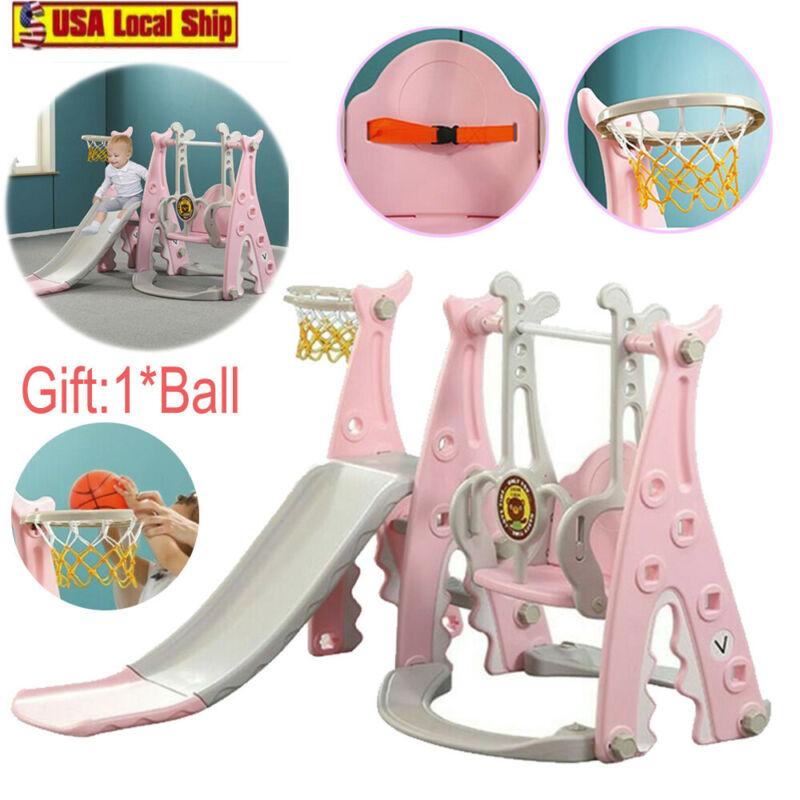 Toddler playground Set Swing Slide Set And Backyard Baskets