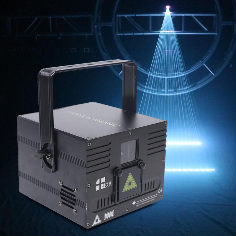 1W 1000mW White Animation Laser Projector Light DMX ILDA DJ Club Stage Lighting