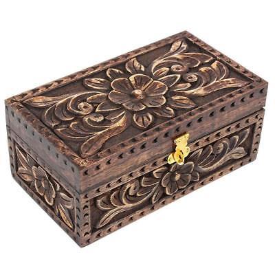 Nirvana-Class 8 Inch Jewelry Trinket Box Wooden Small Square Keepsake Box (Jewelry Box Wooden Box)