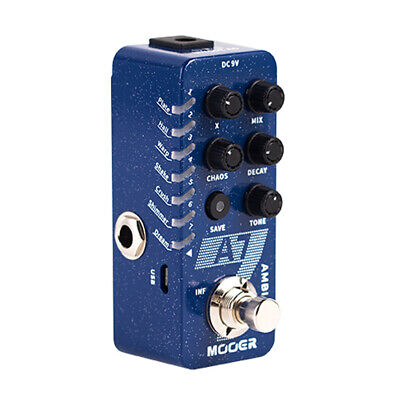 MOOER A7 AMBIENT REVERB Guitar Effect Pedal 7 Reverb Tones Infinite Sustain
