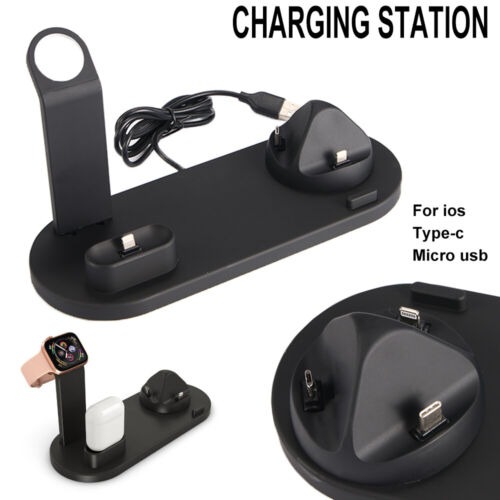 Wireless Charger Charging Station Dock Stand For iPhone  And