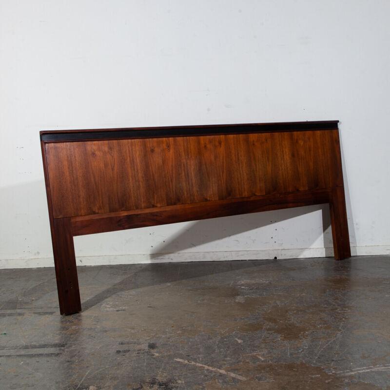 Mid Century Modern Headboard King Size Bed Frame Dillingham Walnut Esprit Wood