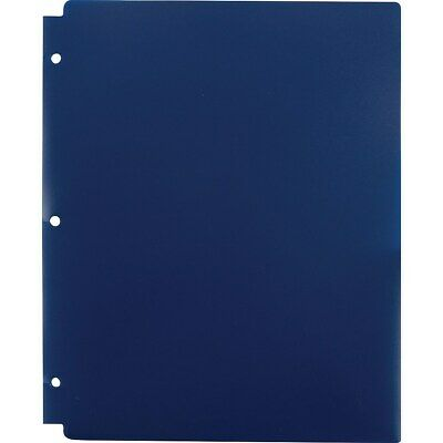 Staples 2 Pocket Folder Snap In 3 Hole Punched Navy 920313