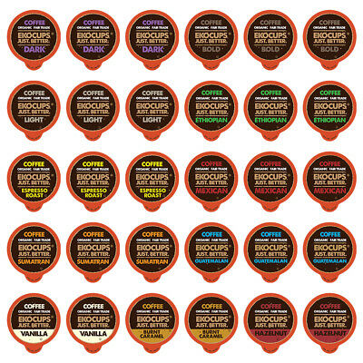 EKOCups For K cups Brewer Fair Trade Organic Coffee Single S