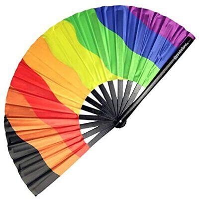 Pride Fans Inclusive Rainbow Hand Loud Clack Drag Queen Folding Large Festival