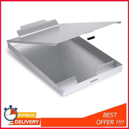 Metal Clipboard with Storage, Letter Size Form Holder Portfolio Aluminum Binder