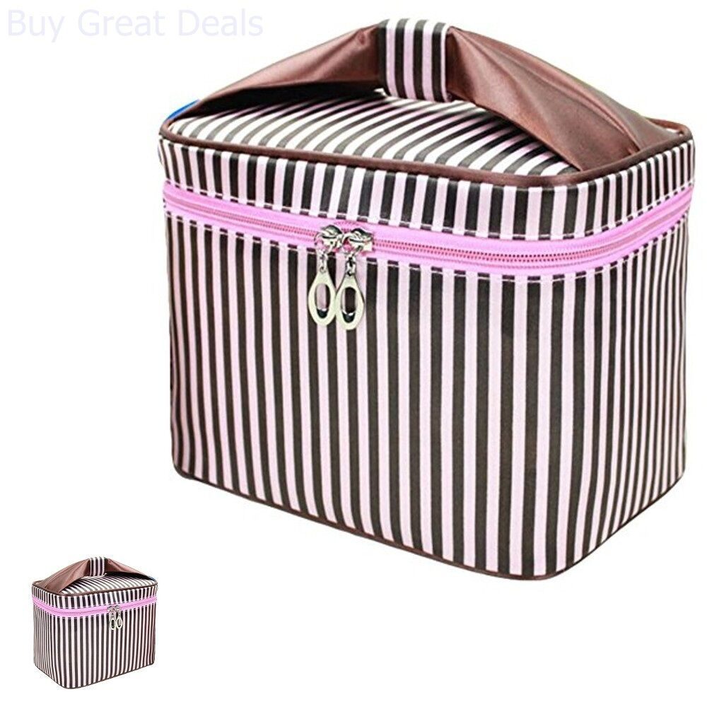 Women Double Cosmetic Bag Travel Makeup Case Toiletry Organi