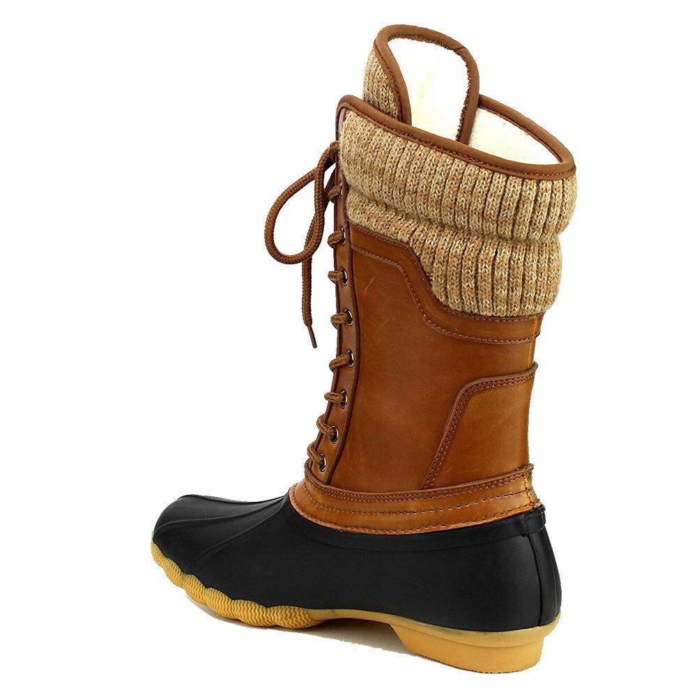 Women Waterproof Warm Snow Rain Winter Lace Up Duck Boots Hu