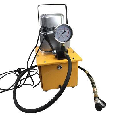 Ac 110v 60hz 750w Single Acting Electric Driven Hydraulic Pump 1.8m Oil Hose New