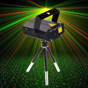 Mini LED R&G Laser Projector Stage Lighting Adjustment DJ Disco Party Club Black