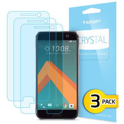 Spigen® HTC 10 [Crystal] Free Shockproof Screen Protector [3PK]