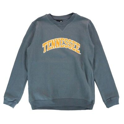 (Tennessee Volunteers NCAA Long Sleeve Arch Grey Crewneck Sweatshirt Fleece Youth)
