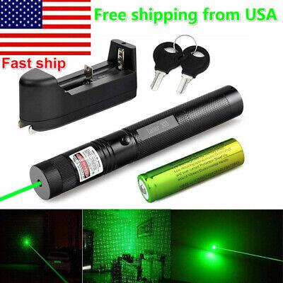 High Power 532nm 303 Green Laser Pointer Lazer Pen Adjustable Visible Beam Light