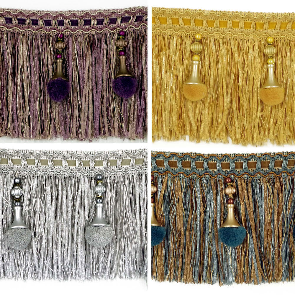 Luxury Exquisite Beaded Tassel Trim Fringe Braid Trimming