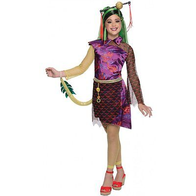 JINAFIRE LONG MONSTER HIGH GIRLS HALLOWEEN FANCY DRESS COSTUME LICENSED 3-10 YRS](Jinafire Monster High Costume)