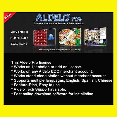 Aldelo Pro Pos Software With Merchant Acc - Simple Rate Plan 2.5 0.1