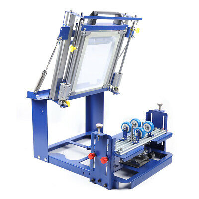 New Curved Screen Printing Machine Manual Cylinder Cylindrical Press Printer Kit