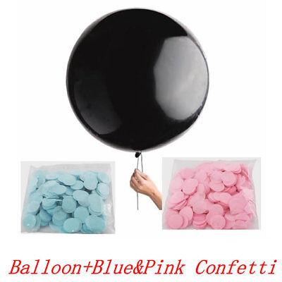 18'' Gender Reveal Baby Shower Confetti Balloon Pink Blue Confetti Party Decor - Reveal Parties