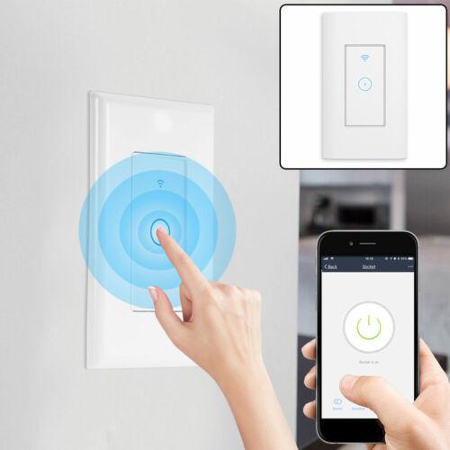 App Smart WIFI Light Wall Switch For Screws Works For Alexa Google Home IFTTT