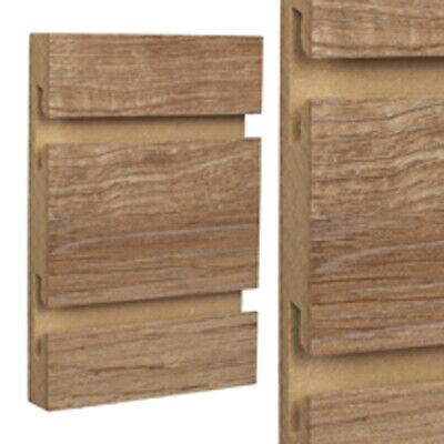 Aspen Oak Wood Standard Cut Slatwall Panels 4 H X 8 W Feet