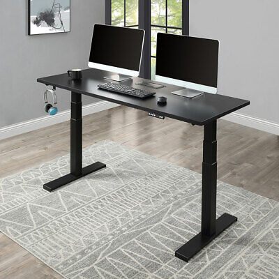 Electric Standing Desk Home Office Height Adjustable Computer Table Dual Motor