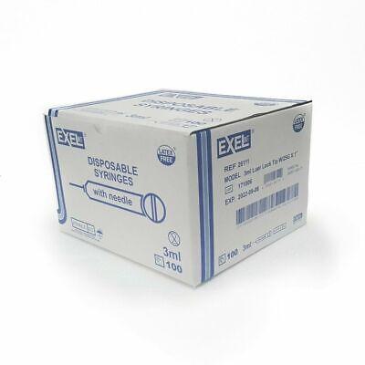 Brand New Exel Luer-lock 3ml3cc 25g X 1in 1 Box Of 50