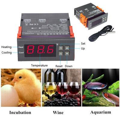 Mini Digital 110v Temp Controller Thermostat -58194 Fahrenheit Sensor 10a V2g1