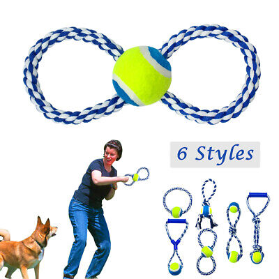 Rope Ring Tug - Aggressive Chew Toys for Large Dogs Indestructible Braided Cotton Rope Tug Ring