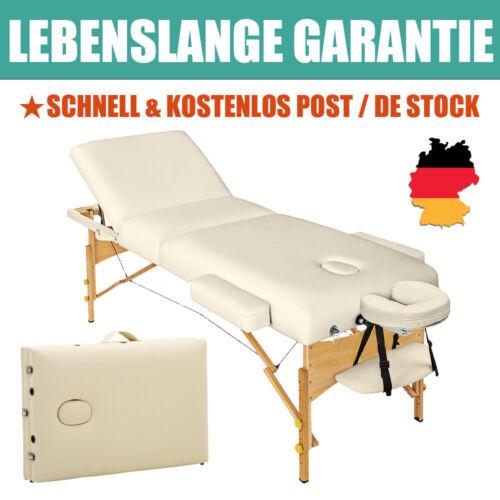 Massage Liege 3-Zonen Therapie Massagetisch Holz Seitenarmlehne Klappbar