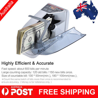 Mini Handy Bill Cash Banknote Counter Money Currency Counting Machine Ac N6k2