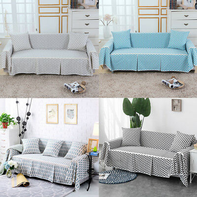 1 2 3 4 Seater Floral Cotton Blend Slipcover Chair Couch Sofa Covers Protector Cotton Floral Slipcover
