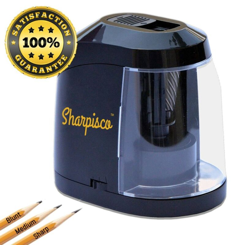 Sharpisco Electric Pencil Sharpener Best Heavy Duty with Auto stop
