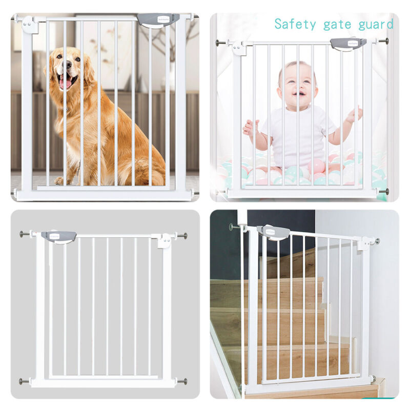 25.6-40.9in Safety Gate Baby Toddler Indoor Security Walk Through Dog Pet fence